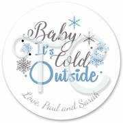 24 Personalized Baby it's cold outside Stickers