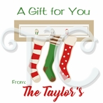 24 Christmas Stocking personalized holiday stickers