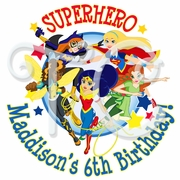 24 DC Superhero Girls Personalized Stickers
