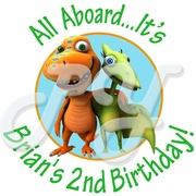 24 Dinosaur Train Personalized Stickers