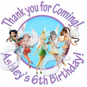 24 Disney Fairies Personalized Birthday Stickers