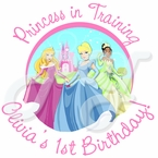 24 Disney Princess 1st Personalized Stickers