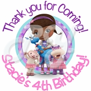 24 Doc McStuffins Personalized Stickers