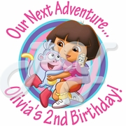 24 Dora the Explorer Personalized Stickers
