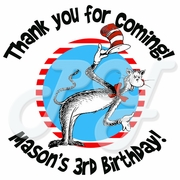 24 Dr. Seuss personalized birthday stickers