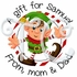 24 Elf personalized Christmas stickers