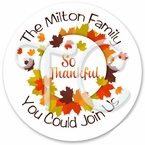 24 Fall Leaves personalized sticker