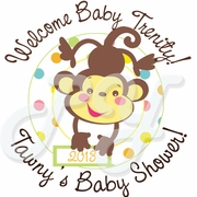 24 Fisher Price Baby Shower Personalized Stickers