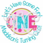 24 Fun to Be One Personalized Stickers