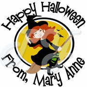 24 Halloween Witch personalized stickers