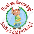 24 Handy Manny Personalized Stickers