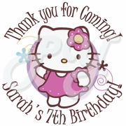 24 Hello Kitty Personalized Stickers