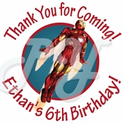 24 Iron Man Personalized Stickers