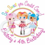 24 Lalaloopsy personalized Birthday stickers