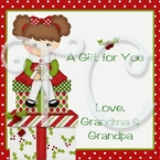 24 Holiday personalized Christmas stickers