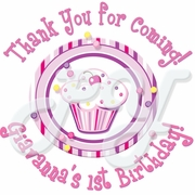 24 Lil Cupcake Personalized Sticker