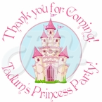 24 Lil princess personalized birthday stickers
