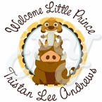 24 Lion King Baby Shower Personalized Stickers