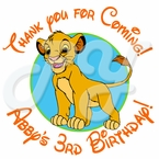 24 Lion King Personalized Stickers