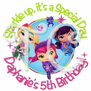 24 Little Charmers Personalized Birthday Stickers
