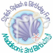24 Mermaids Under the Sea Personalized Birthday Stickers