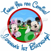 24 Mickey Mouse Clubhouse Birthday Personalized Stickers