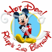 24 Mickey Mouse Clubhouse personalized birthday stickers