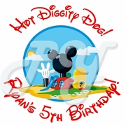 24 Mickey Mouse Personalized  Stickers