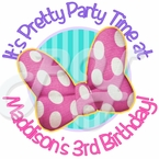 24 Minnie Mouse Dream Party Personalized Birthday stickers
