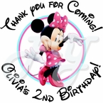 24 Minnie Mouse Red Personalized Stickers