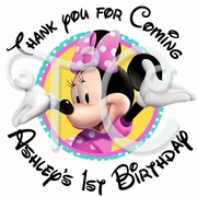 24 Minnie Mouse Personalized Stickers