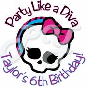 24 Monster High Personalized Birthday Stickers