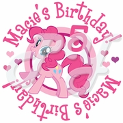24 My Little Pony personalized birthday stickers