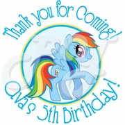 24 My Little Pony personalized stickers