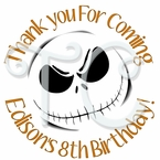 24 Nightmare Before Christmas Personalized Stickers
