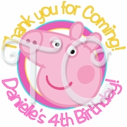 24 Peppa Pig Personalized Stickers