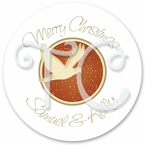 24 Personalized Christmas Dove Stickers