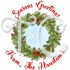 24 Personalized Christmas Wreath stickers