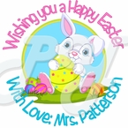 24 Personalized Easter Bunny Stickers