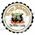 24 Personalized Halloween Witches Brew Stickers