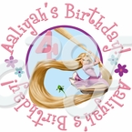24 Personalized Tangled Birthday stickers