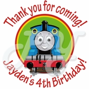 24 Personalized Thomas the Train Stickers