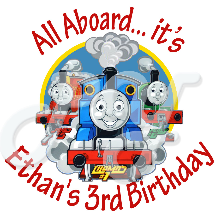 Personalized Thomas the Train Stickers