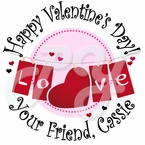 24 Personalized Valentine�s Day Stickers