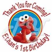 24 Sesame Street 1st Personalized Birthday Stickers