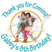 24 Shake it Up Personalized Birthday Stickers