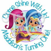 24 Shimmer and Shine Personalized Birthday stickers