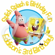 24 Spongebob personalized stickers