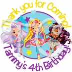 24 Sunny Day Personalized Birthday Stickers