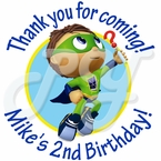 24 Super Why Personalized Birthday Sticker